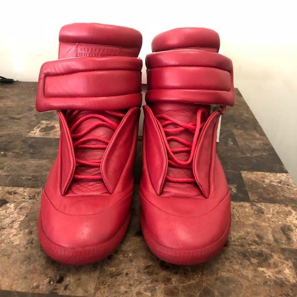 Maison Martin Margiela Other - Men Leather Maison Margiela Sneakers sz 42 ( Red) 64f055d81
